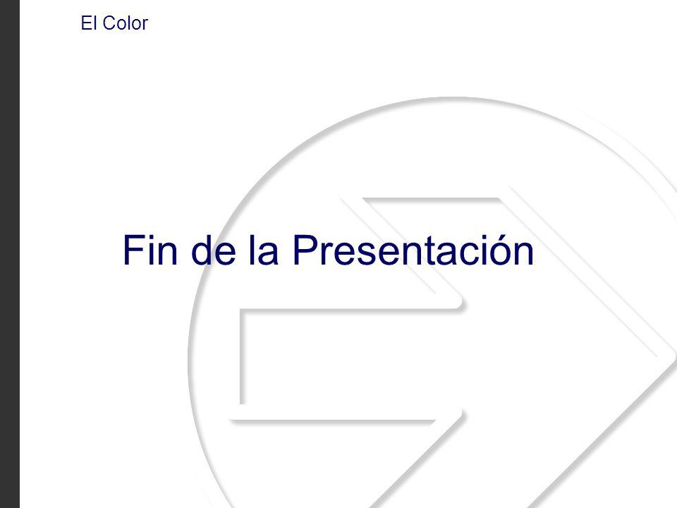 El Color Fin de la Presentación