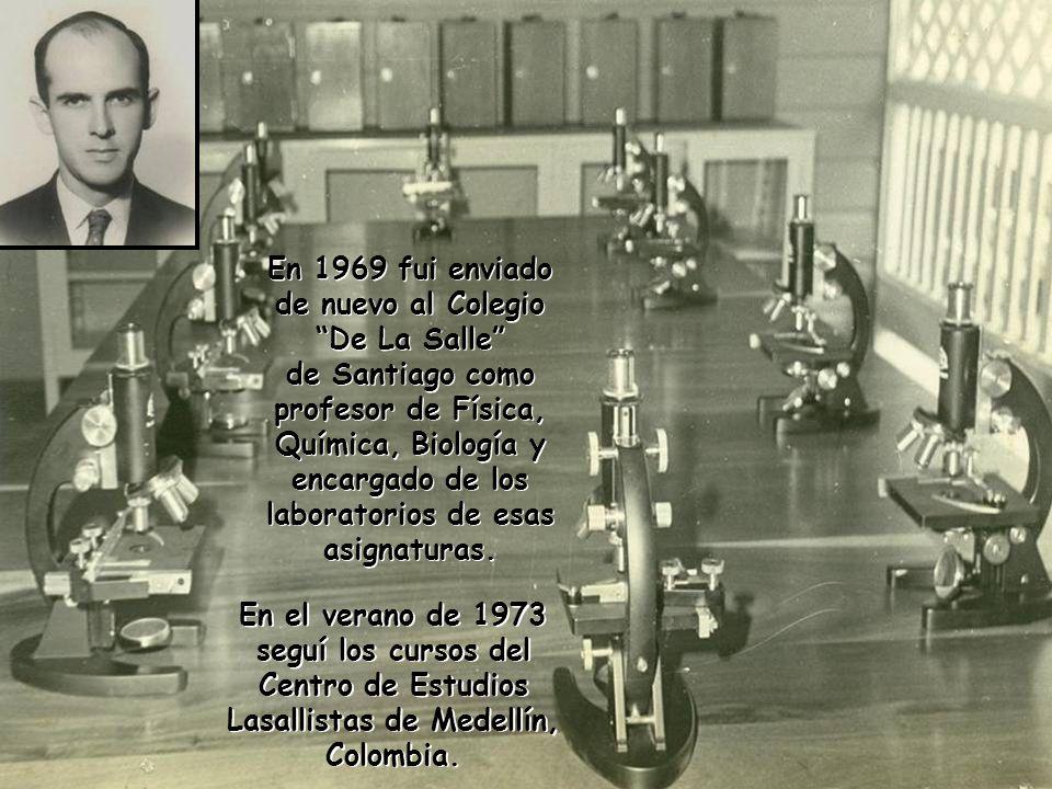 Terminados los estudios en París (1968) fui nombrado director de la Escuela Técnica del Barrio Simón Bolívar de Sto. Dgo. Durante ese año di impulso a