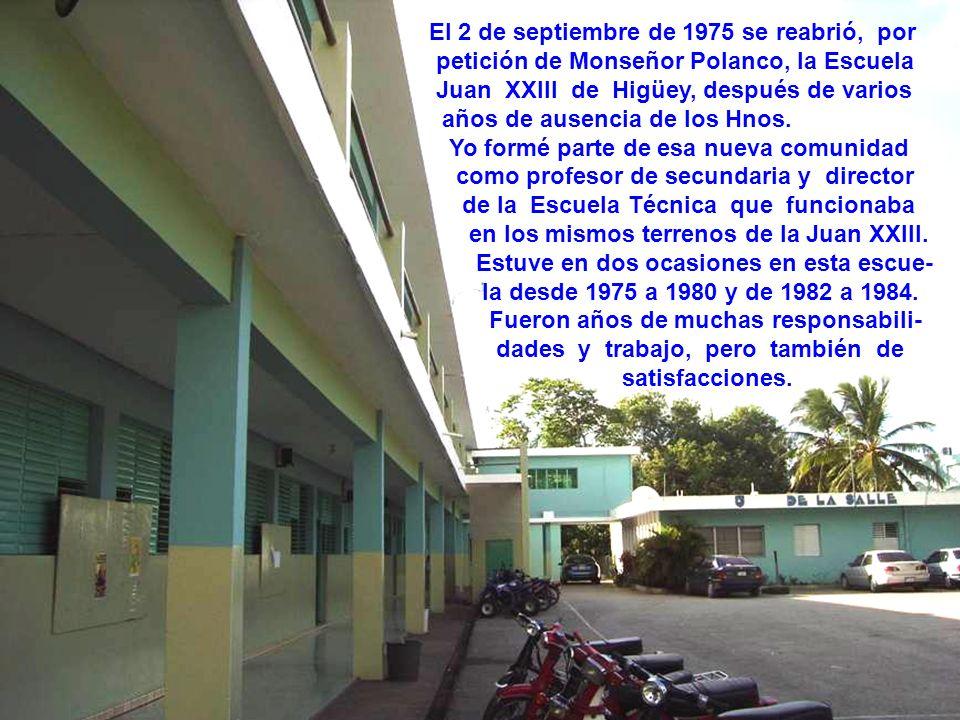 En 1969 fui enviado de nuevo al Colegio De La Salle de Santiago como profesor de Física, Química, Biología y encargado de los laboratorios de esas asi