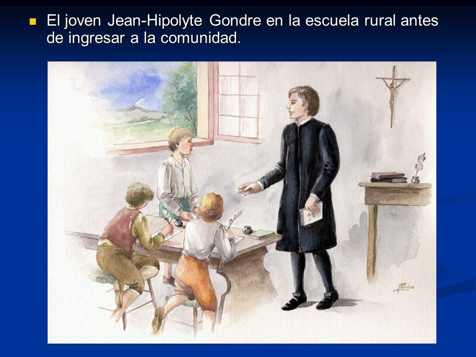 El joven Jean-Hipolyte Gondre en la escuela rural antes de ingresar a la comunidad. El joven Jean-Hipolyte Gondre en la escuela rural antes de ingresa