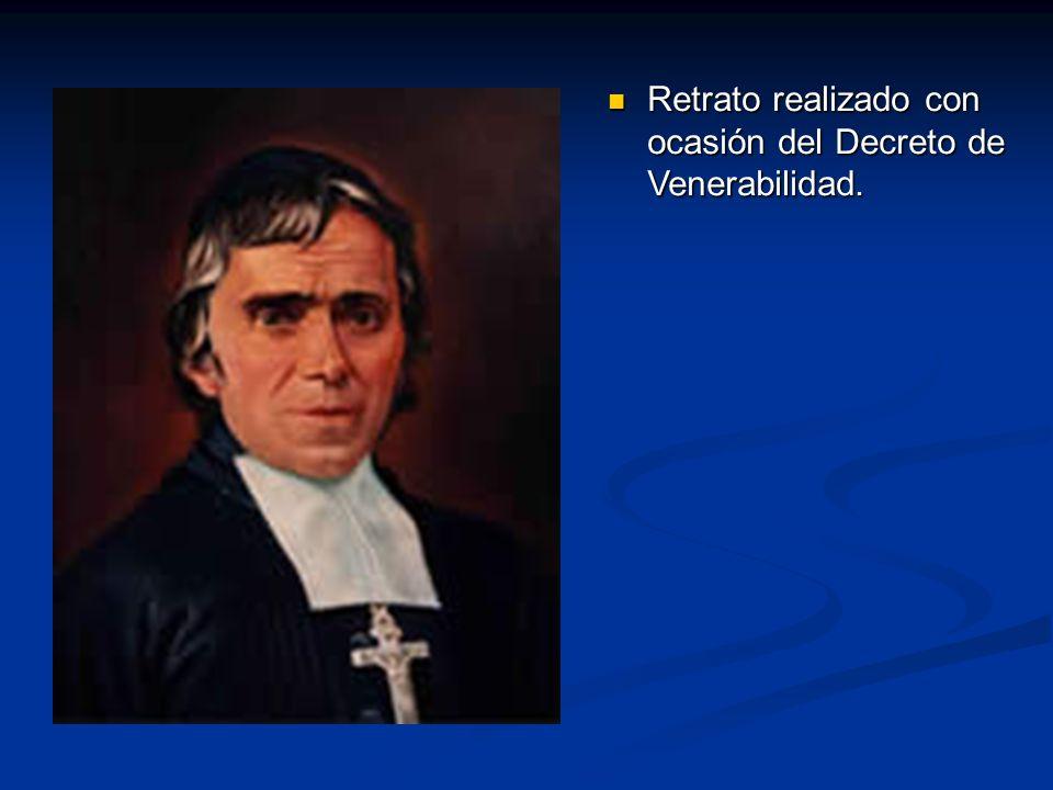Retrato realizado con ocasión del Decreto de Venerabilidad. Retrato realizado con ocasión del Decreto de Venerabilidad.