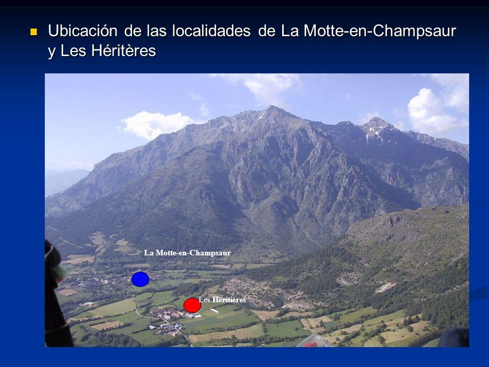 Ubicación de las localidades de La Motte-en-Champsaur y Les Héritères Ubicación de las localidades de La Motte-en-Champsaur y Les Héritères La Motte-e