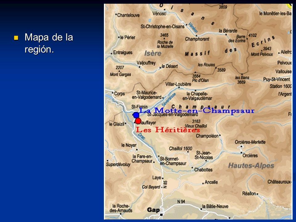 Mapa de la región. Mapa de la región.