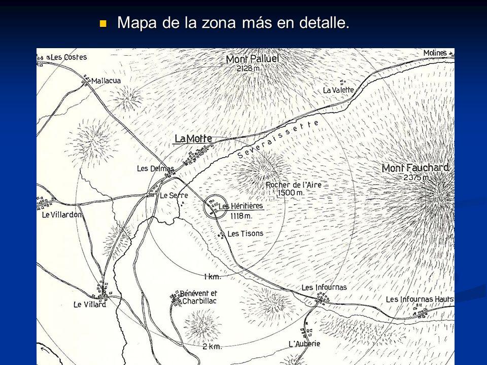 Mapa de la zona más en detalle. Mapa de la zona más en detalle.