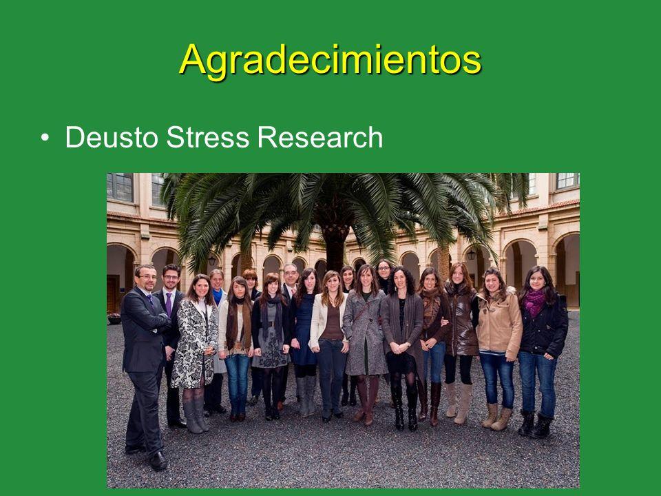 Agradecimientos Deusto Stress Research