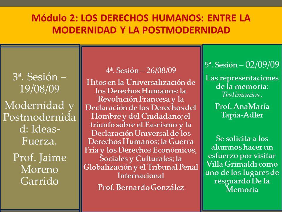5ª. Sesión – 08/09/09 Las representaciones de la memoria: Testimonios. Prof. AnaMaría Tapia-Adler