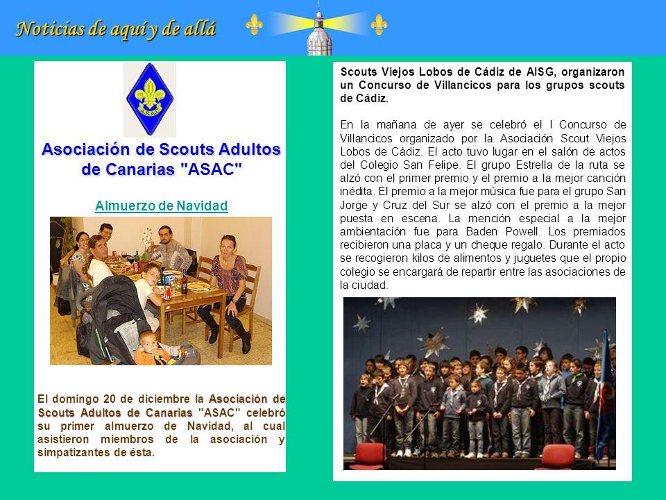 Noticias de aquí y de allá Asociación de Scouts Adultos de Canarias Asociación de Scouts Adultos de Canarias