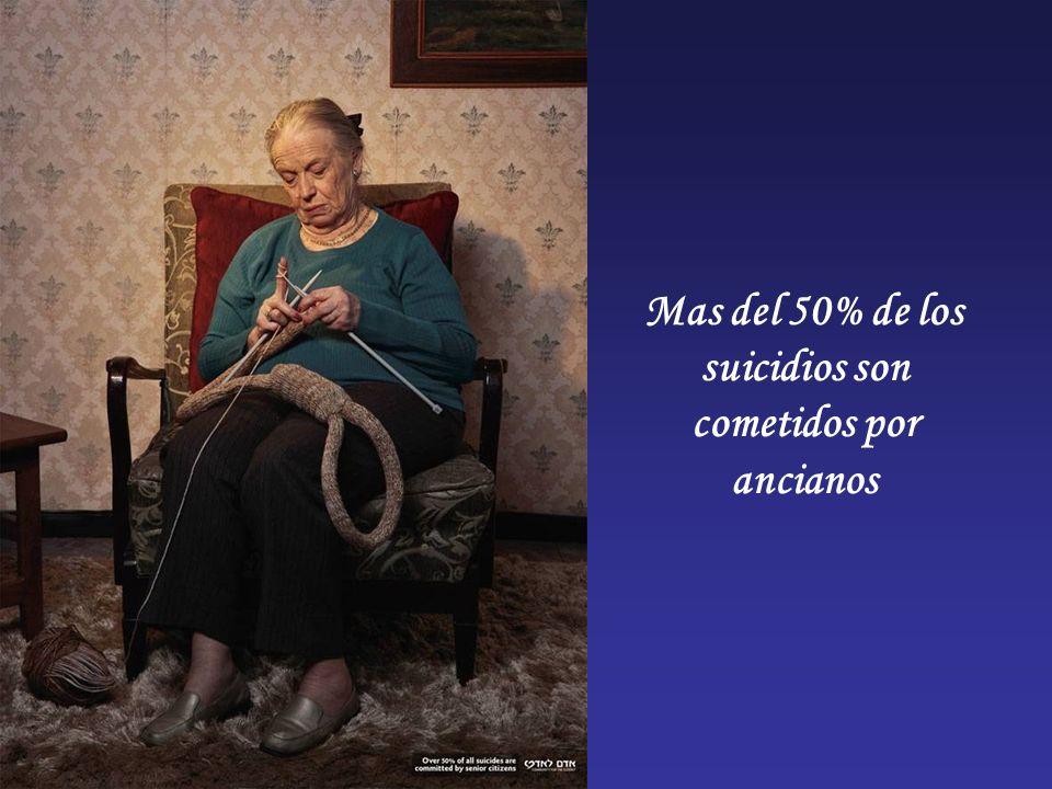 Mas del 50% de los suicidios son cometidos por ancianos