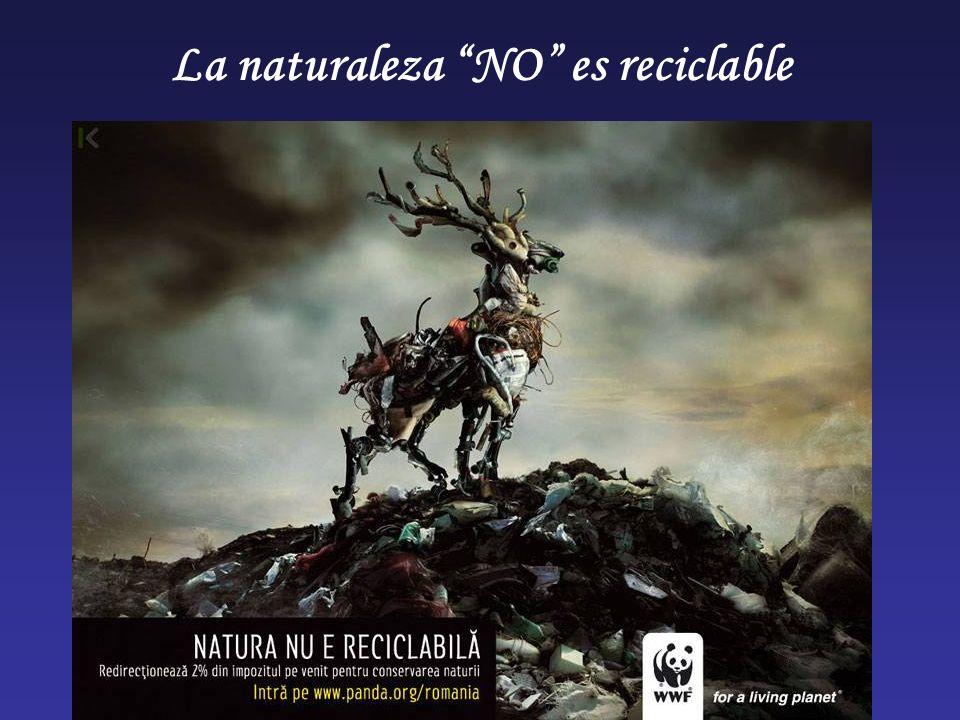 La naturaleza NO es reciclable
