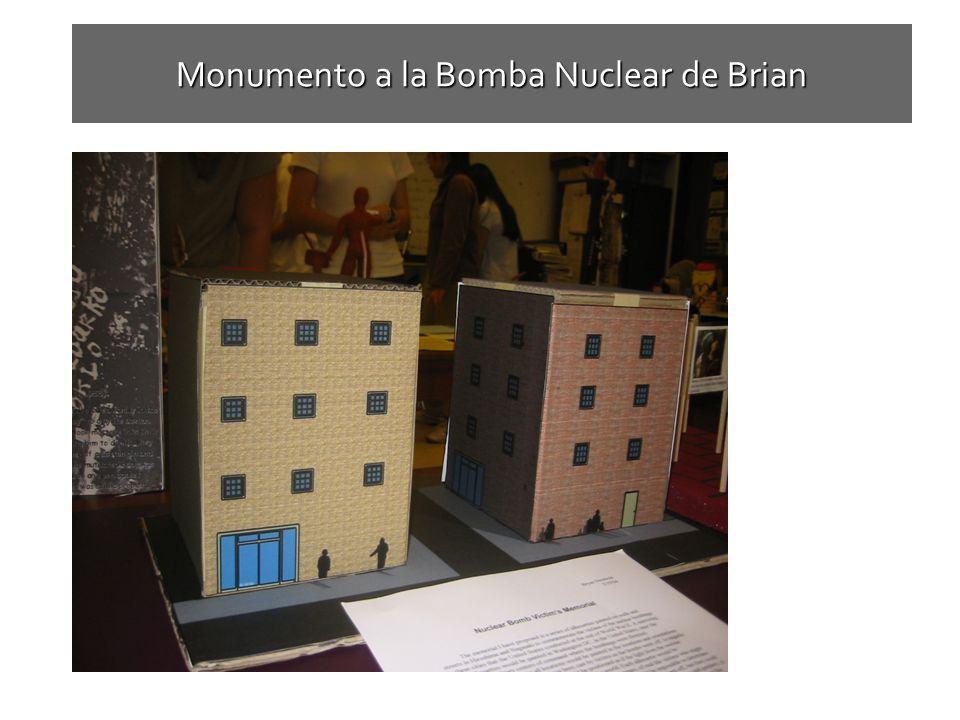 Monumento a la Bomba Nuclear de Brian Brians Nuclear bomb victims memorial