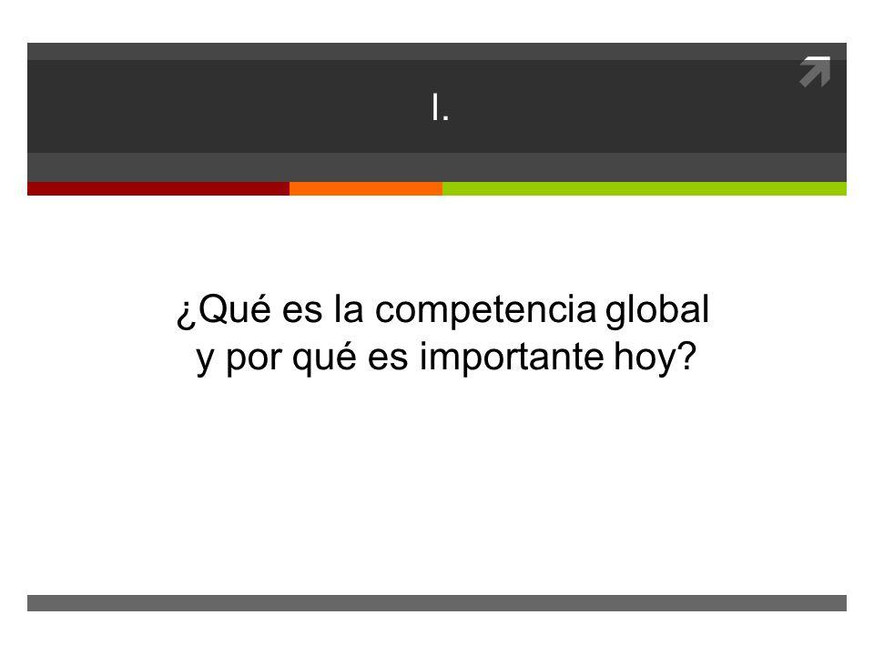 I. ¿Qué es la competencia global y por qué es importante hoy?