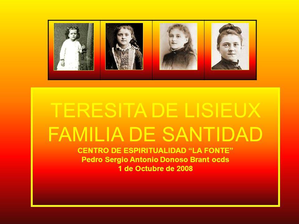 En el segundo día de enero del año 1873, nace en Alencon, Francia, Teresa Martín, hija de Luis Martín y Celia Guérin quienes dos días después la bautizan con los nombres de Maria Francisca Teresa en la Iglesia de Nôtre-Dame.
