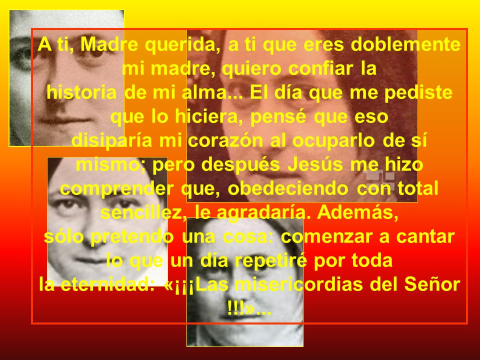 TERESITA INFANCIA Y JUVENTUD DE AMOR