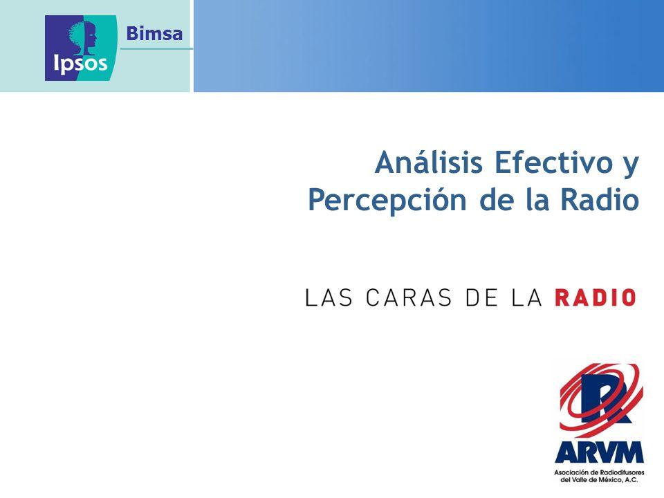 Análisis Efectivo y Percepción de la Radio Bimsa