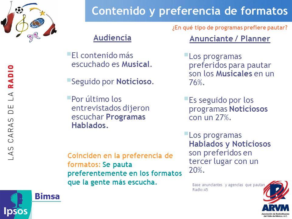 Bimsa La Radio es un medio preciso y llega a grupos muy concretos MujeresHombres EGM (Estudio General de Medios, 2do Acumulado 2006 Julio 05-Junio 06).
