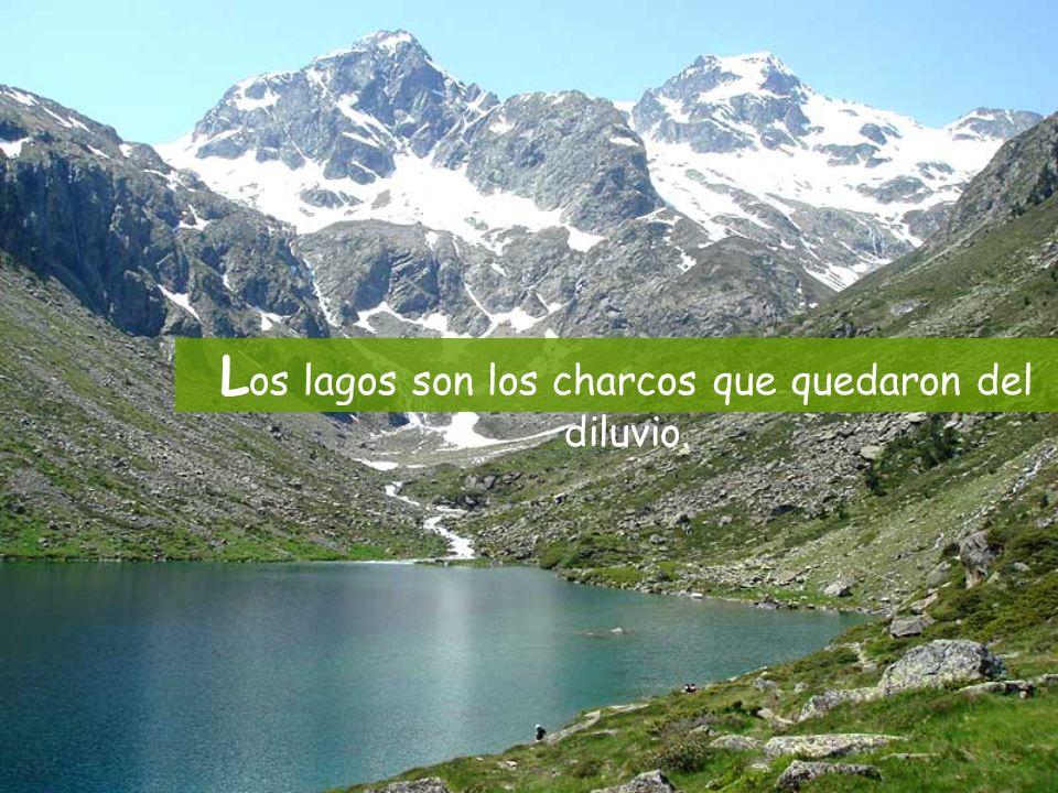 L os lagos son los charcos que quedaron del diluvio.