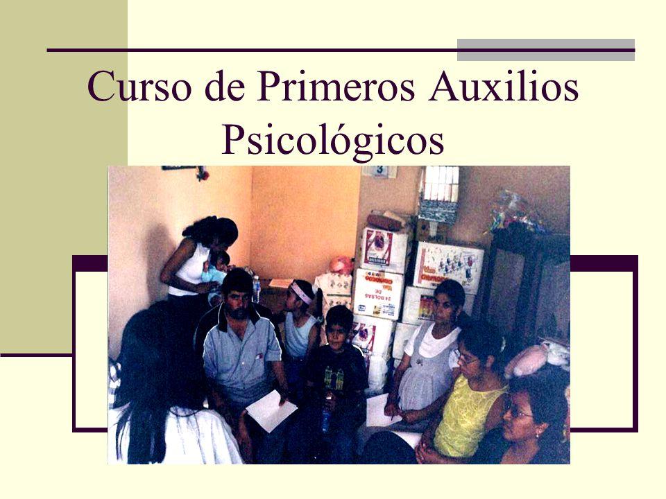 Curso de Primeros Auxilios Psicológicos