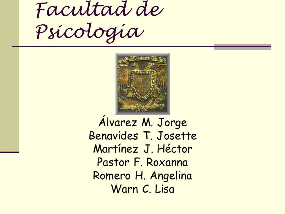 Facultad de Psicología Álvarez M.Jorge Benavides T.
