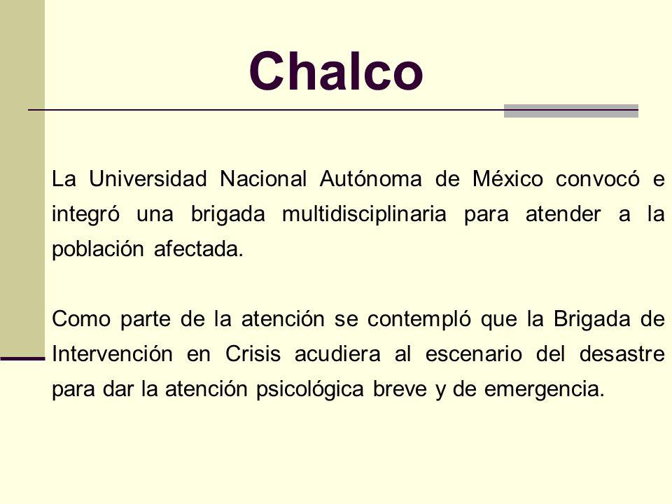 Chalco Un fenómeno hidrometereológico ocurrido en Chalco, Estado de México, ocasionó la ruptura del bordo del canal La Compañía. El desbordamiento del
