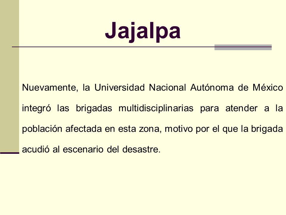Jajalpa Un fenómeno hidrometeorológico dio lugar al deslave de un cerro que se encuentra aledaño a la comunidad, lo que ocasionó la inundación de vari