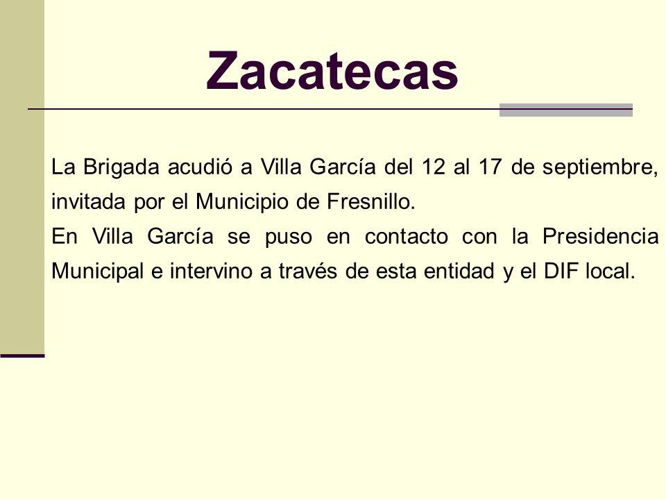 Zacatecas En agosto de 2002, un fuerte torrencial en la zona aledaña a Villa García, en Zacatecas, ocasionó el ablandamiento de uno de los diques de l