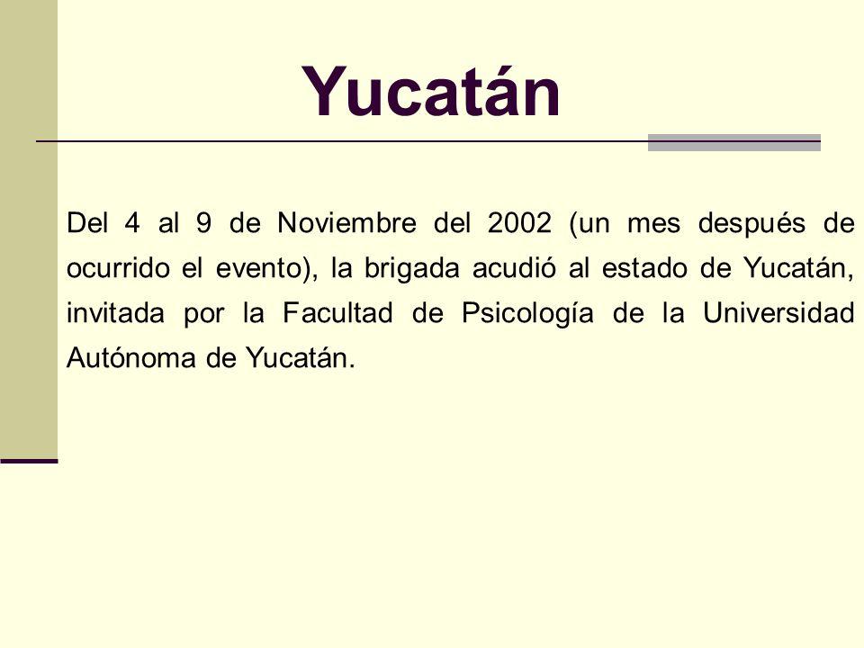 Yucatán El huracán Isidoro, en septiembre de 2002, dejó miles de damnificados, daños parciales en edificios y derrumbes por toda la península de Yucat