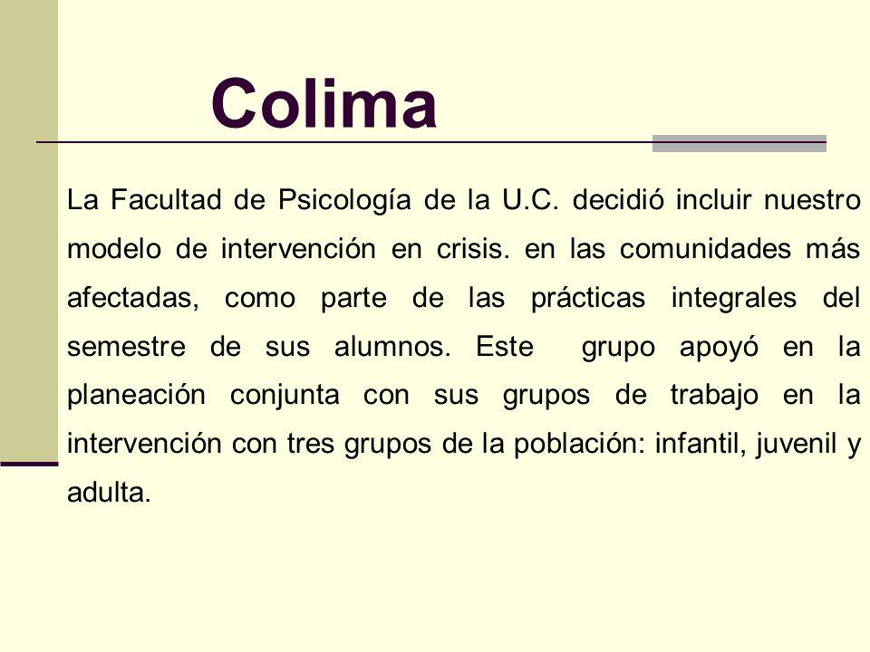 Colima Un sismo de 7.8 en la escala de Richter, con una duración de 45 segundos, tuvo su epicentro en las costas de Colima el 21 de enero de 2003. A c