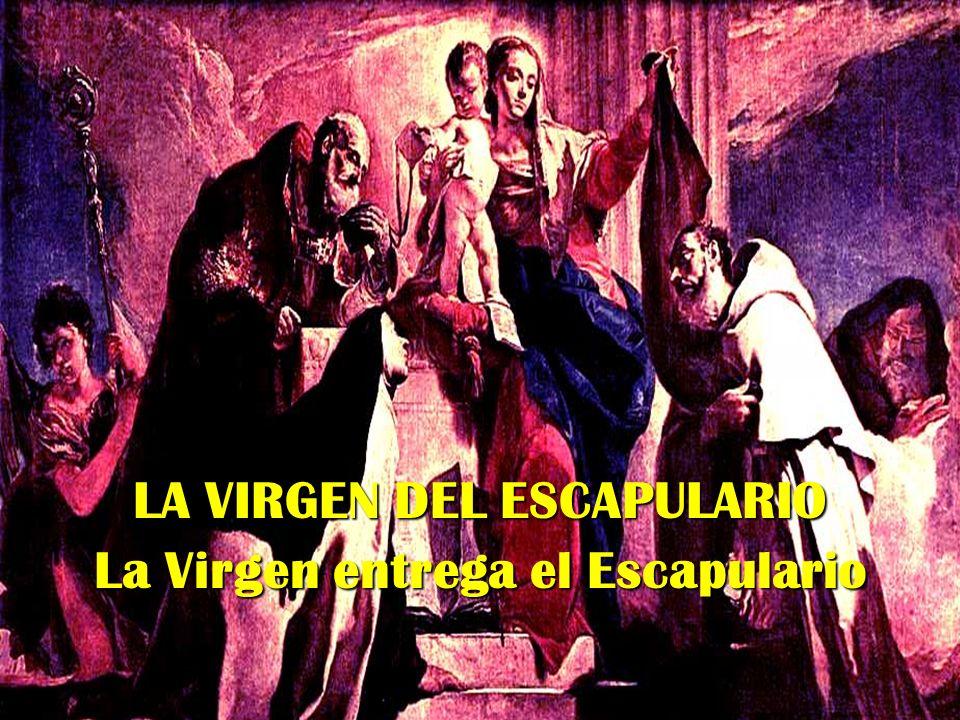 EL ESCAPULARIO EN LOS CARMELITAS Entre los Carmelitas se estableció el Escapulario, en forma reducida, como expresión de pertenencia a la Orden y de compartir su devoción mariana.