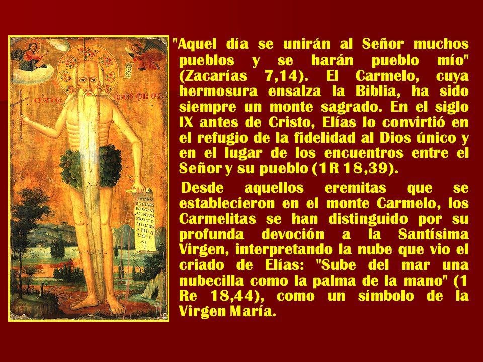 La Virgen del Carmen, es la madre protectora de los Ganaderos y Mineros de todos los tiempos.
