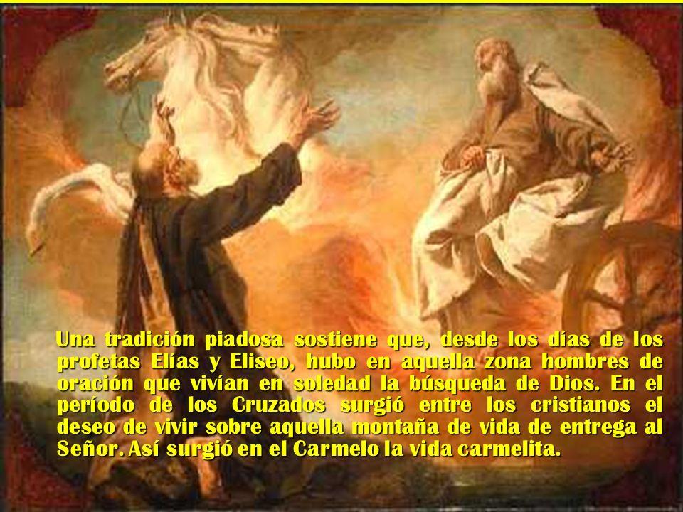 SAN ALBERTO DE JERUSALEN En la época de los Cruzados, el patriarca latino de Jerusalén, San Alberto, pudo dar a los ermitaños del Monte Carmelo una regla religiosa el año 1212.