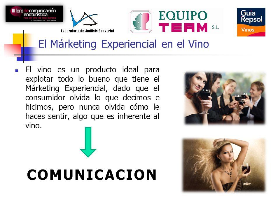 El Márketing Experiencial en el Vino El vino es un producto ideal para explotar todo lo bueno que tiene el Márketing Experiencial, dado que el consumi
