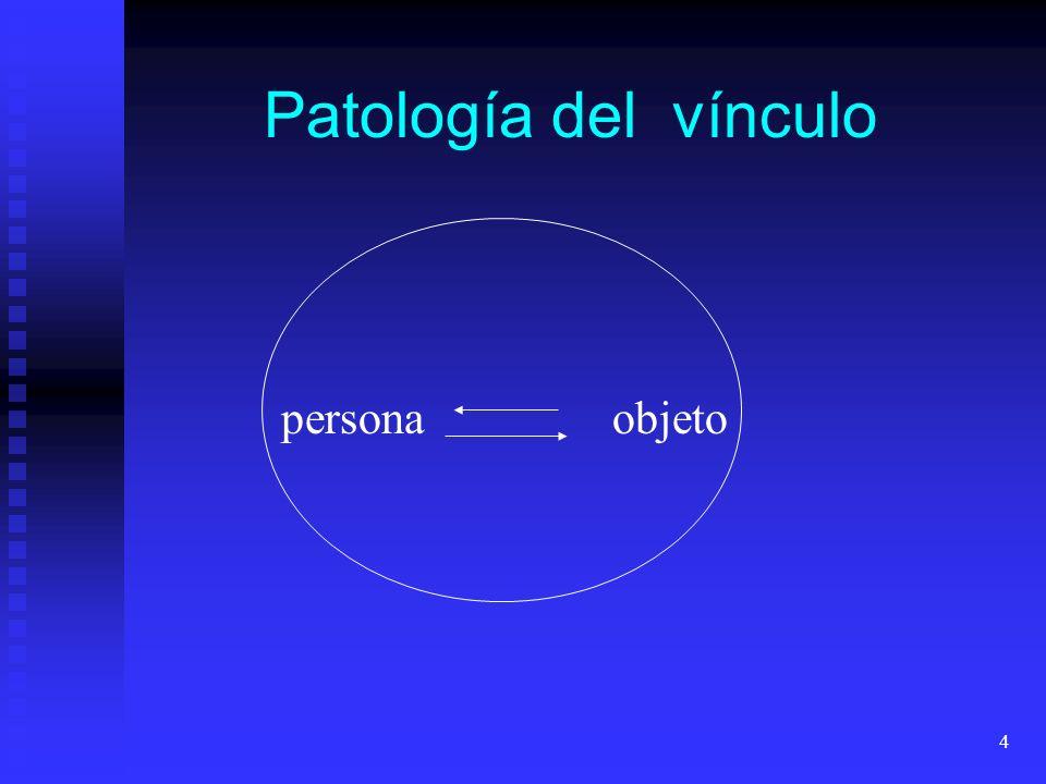 4 personaobjeto Patología del vínculo