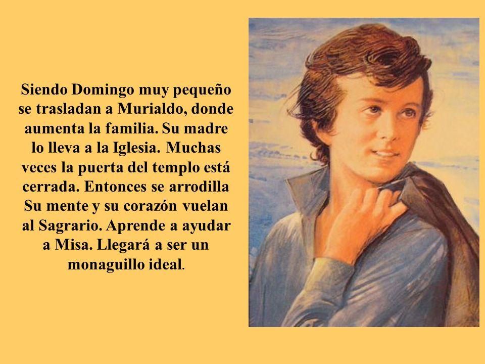 Siendo Domingo muy pequeño se trasladan a Murialdo, donde aumenta la familia.
