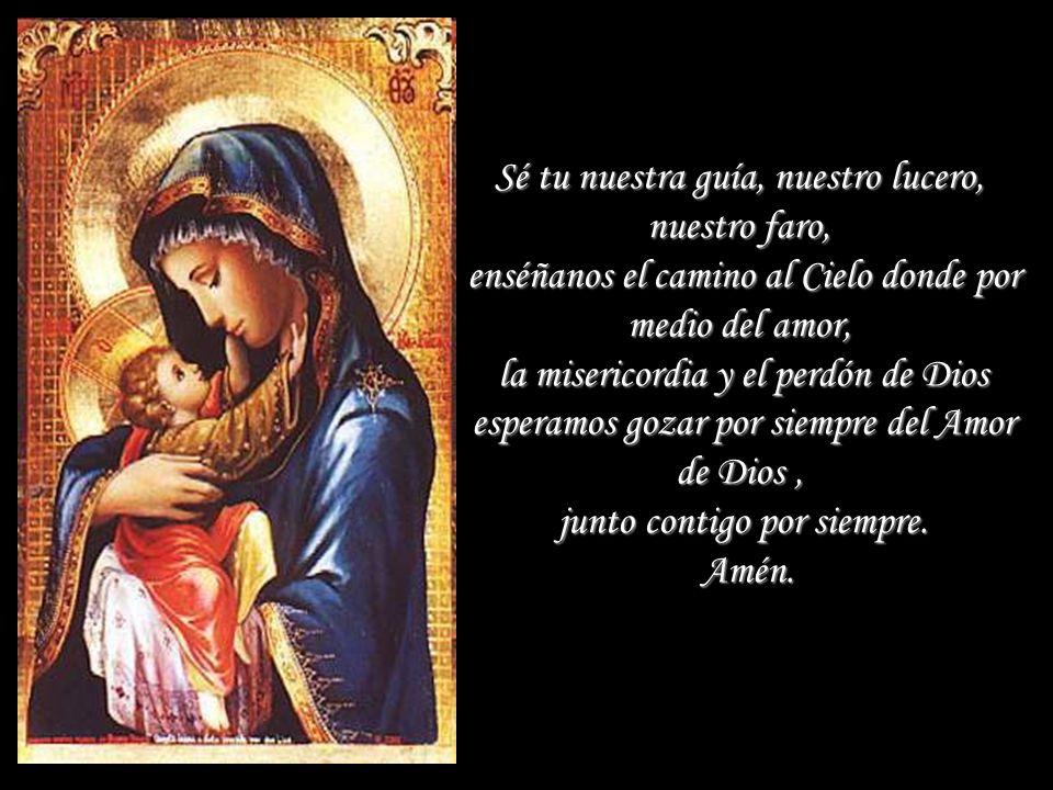 Gracias por tu amor y tus cuidados maternales. Cúbrenos con tu manto y protégenos de todos los males y de las asechanzas del demonio.
