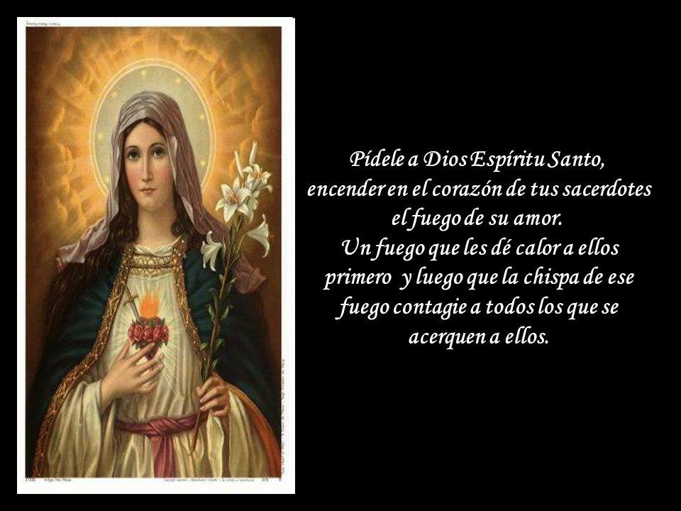 Pídele a Dios Espíritu Santo, encender en el corazón de tus sacerdotes el fuego de su amor.