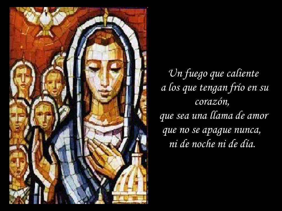 Pídele a Dios Espíritu Santo, encender en el corazón de tus sacerdotes el fuego de su amor. Un fuego que les dé calor a ellos primero y luego que la c