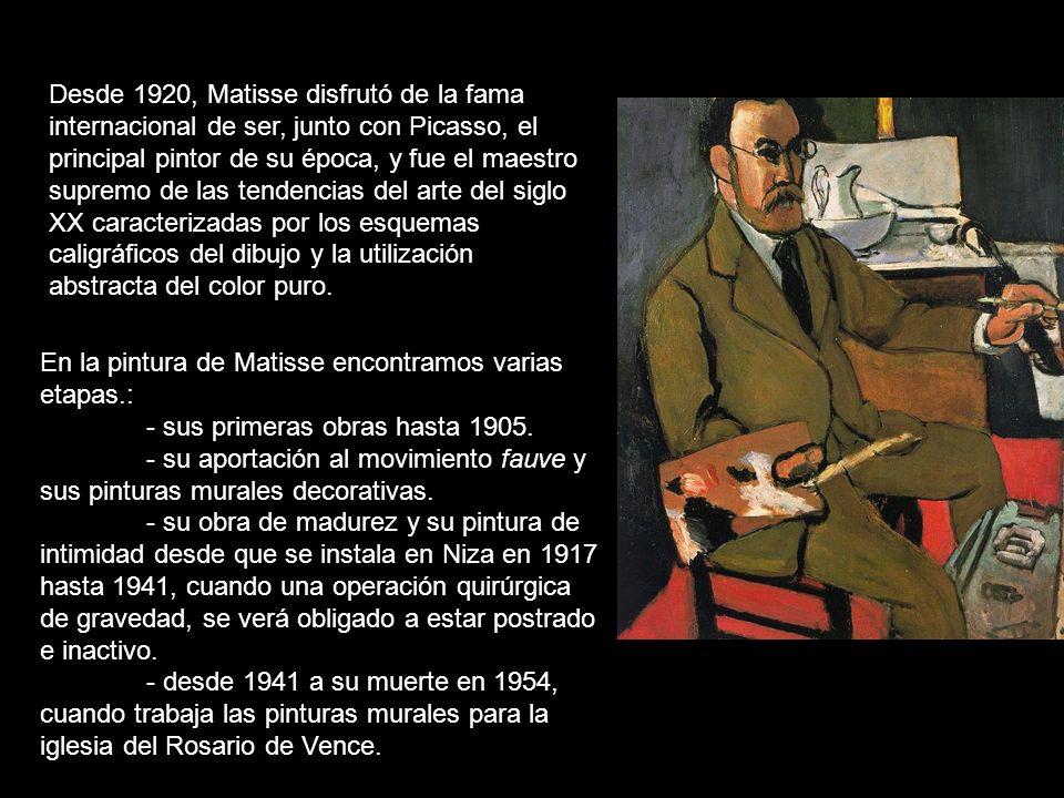 Matisse murió en Niza el 3 de noviembre de 1954.