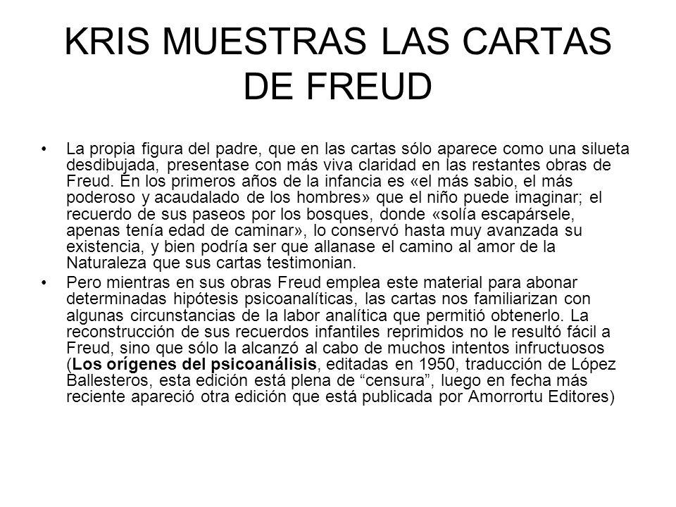 Freud muestra las cartas de W.