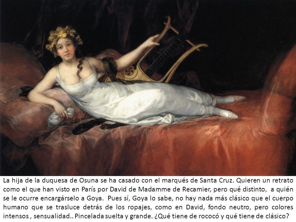 La hija de la duquesa de Osuna se ha casado con el marqués de Santa Cruz. Quieren un retrato como el que han visto en París por David de Madamme de Re