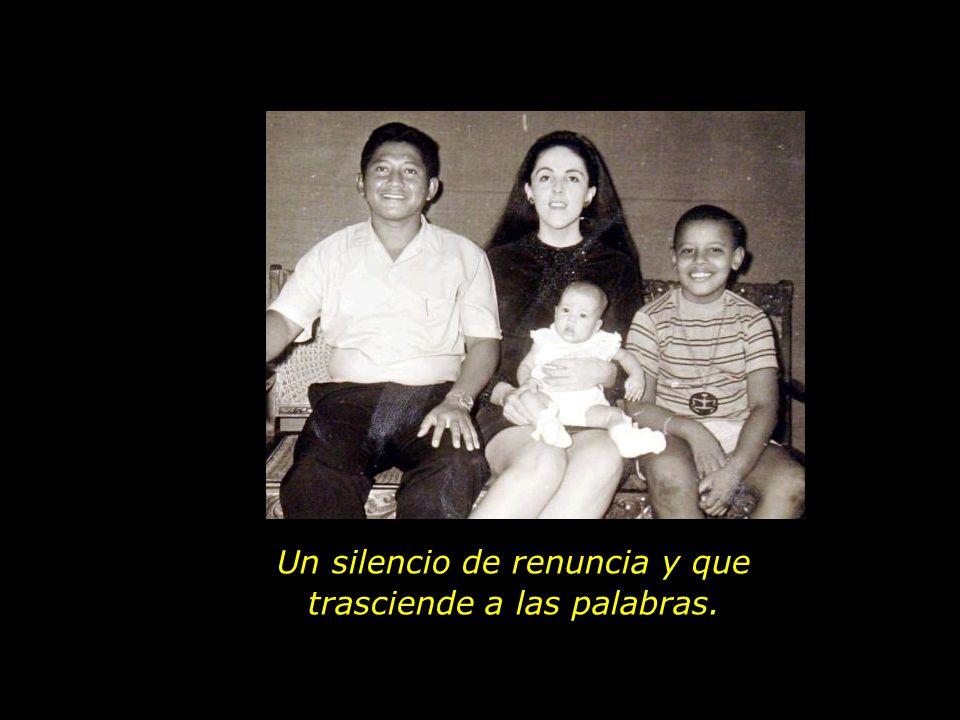 El primero es el silencio de la comunión, que representa la esencia de la unión, donde los dos se convierten en uno.