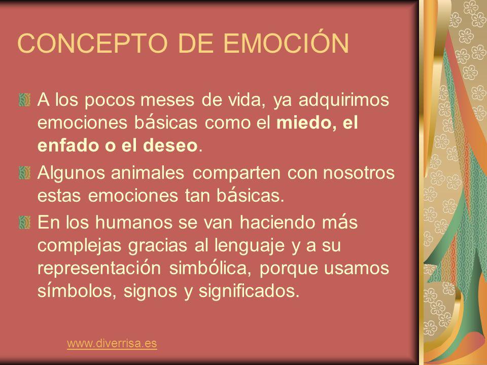 Cada individuo experimenta una emoci ó n de forma particular, dependiendo de sus experiencias anteriores, aprendizaje, car á cter y de la situaci ó n concreta.