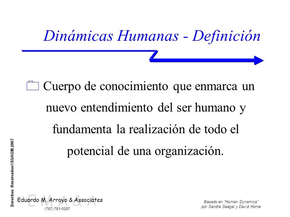 E M A & A Eduardo M. Arroyo & Associates (787) 781-0287 Basado en Human Dynamics por Sandra Seagal y David Horne Derechos Reservados©SUAGM.2007 Dinámi