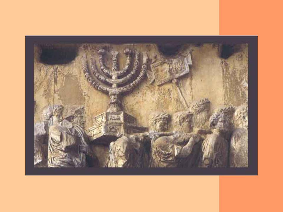 Los romanos describieron la Menorá del Beit Hamikdash a través de un bajorrelieve en el Arco de Tito.