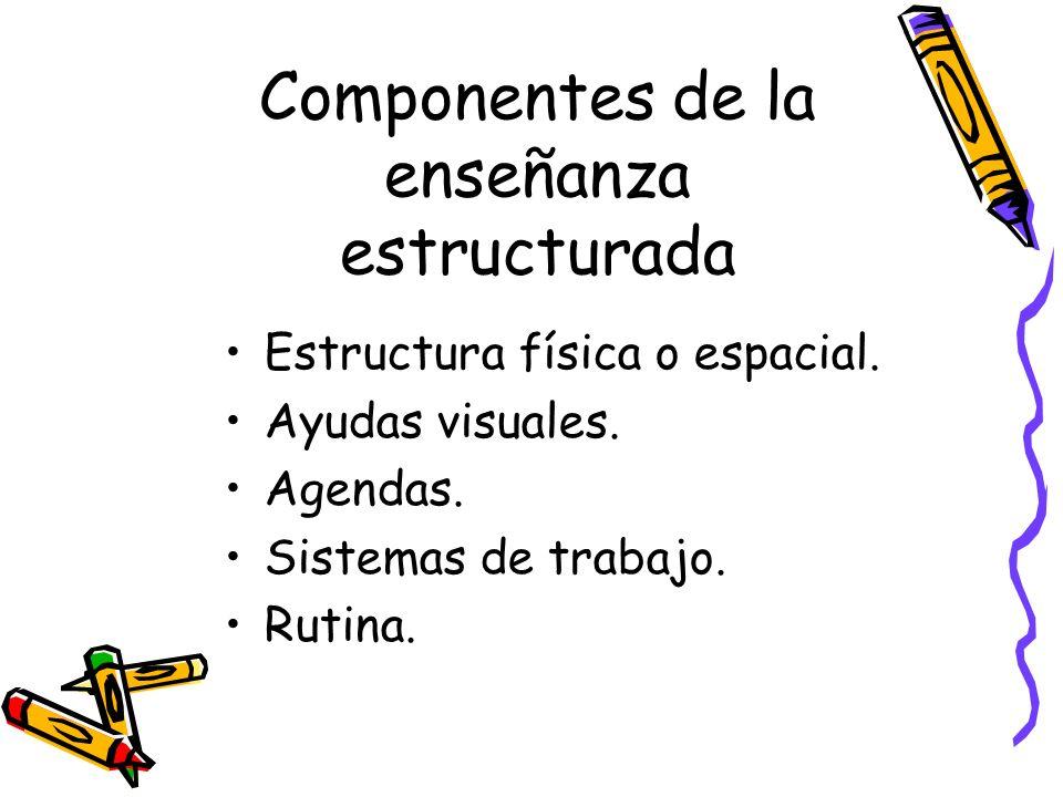Componentes de la enseñanza estructurada Estructura física o espacial.