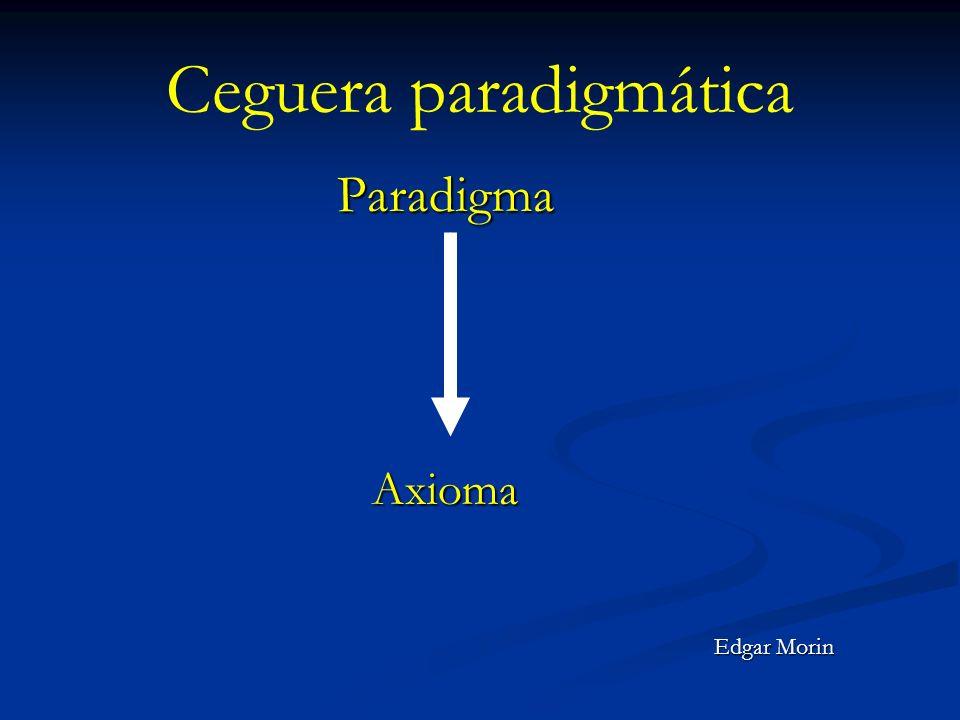 Ceguera paradigmática ParadigmaAxioma Edgar Morin