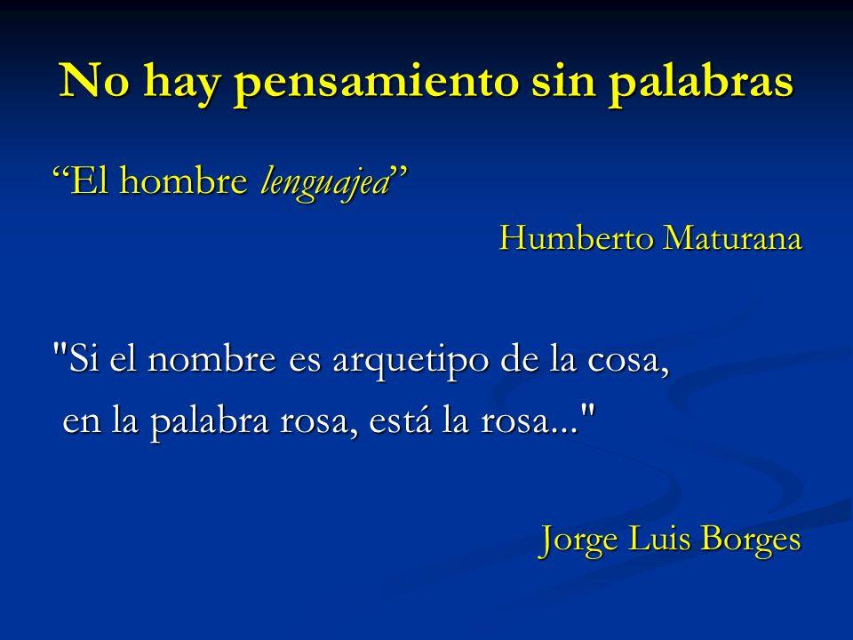 No hay pensamiento sin palabras El hombre lenguajea Humberto Maturana