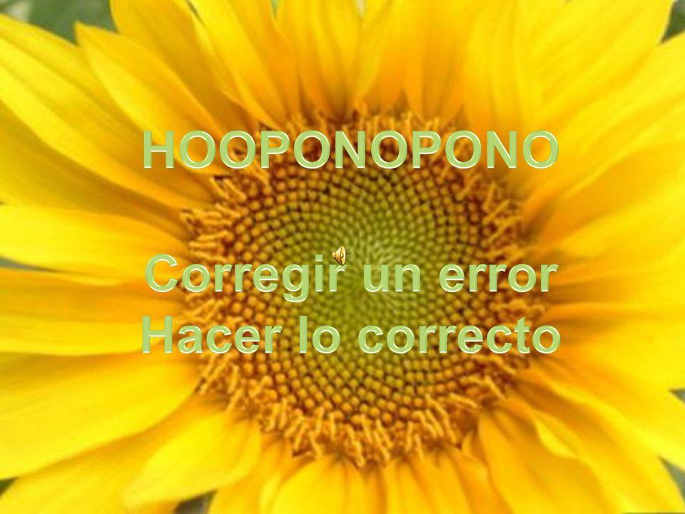 Con el hooponopono, la Divinidad toma los pensamientos dolorosos y los neutraliza o los purifica.