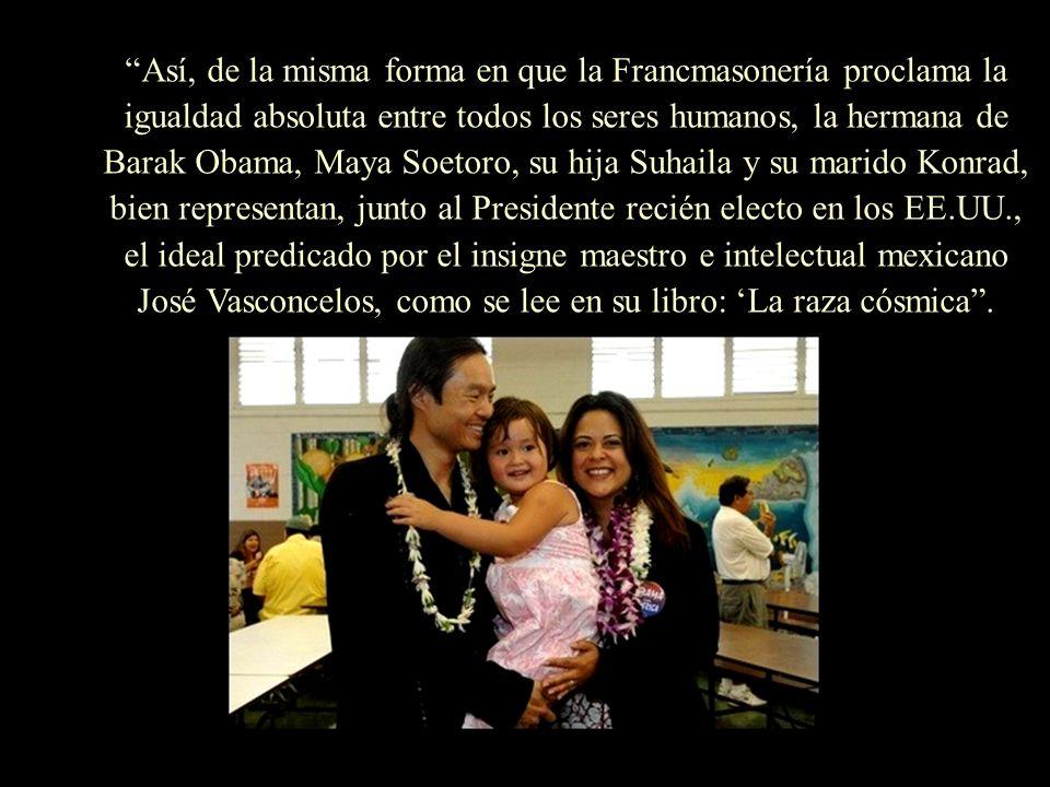 La pareja Obama con sus hijas, Malia Ann (10) y Natasha (7).