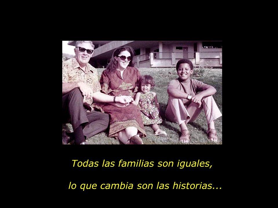 Padre e hija, madre e hijos, abuelo y nietos, los pequeños hermanos.