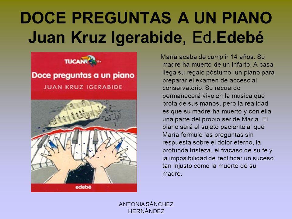 ANTONIA SÁNCHEZ HERNÁNDEZ EL CHICO RUMANO Javier Alfaya Bula, Anaya Una noche, mientras pasea a sus dos perros, el narrador de esta historia se topa en la calle con un chico extranjero.